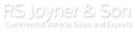 RS Joyner & Son, Commercial Vehicle Sales & Exports